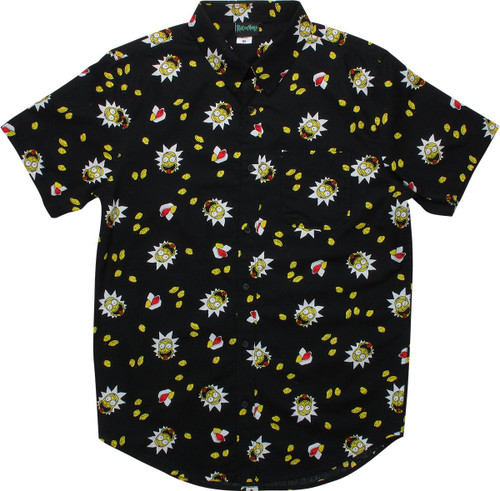 Rick and Morty Szechuan Sauce Button Shirt