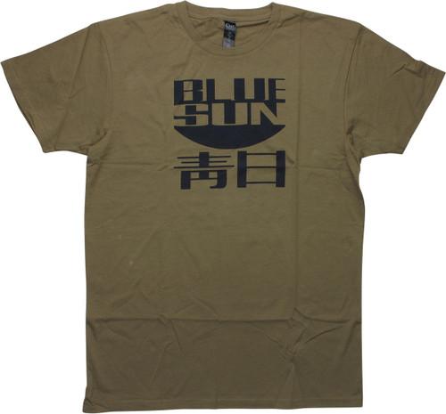 Firefly Jayne Cobb Blue Sun Olive Green T-Shirt