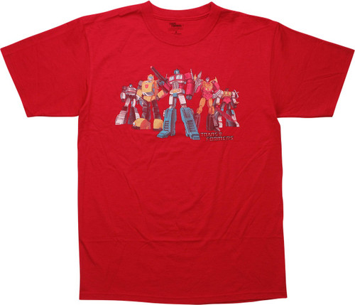 Transformers Optimus Prime Autobots Red T-Shirt