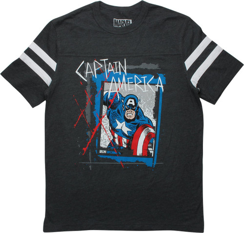 Captain America Wanted Poster Jersey Shirt