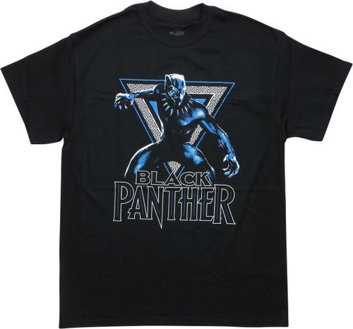 Black Panther Movie Triangle Logo T-Shirt