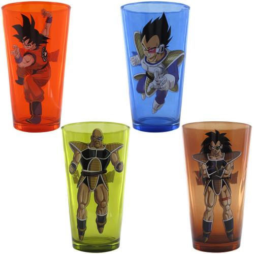 Dragon Ball Z Hero Villains 4 Pint Glass Set