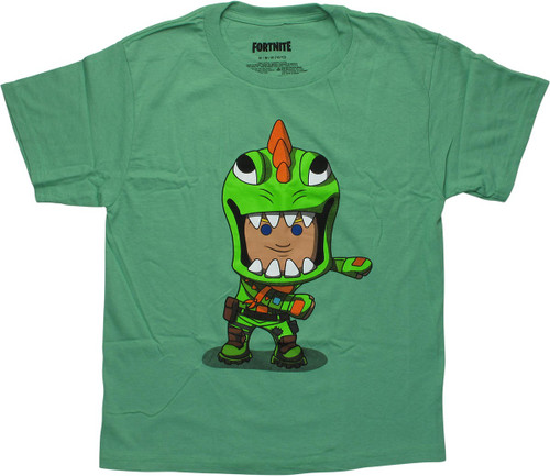 Fortnite Flossing Rex Green Youth T-Shirt