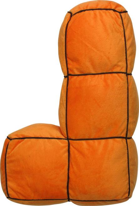 Tetris Orange L Shape Piece Pillow