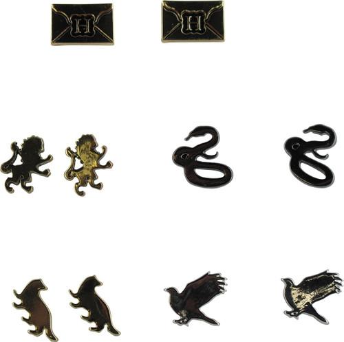 Harry Potter Animals Letter 5 Pair Earrings Set