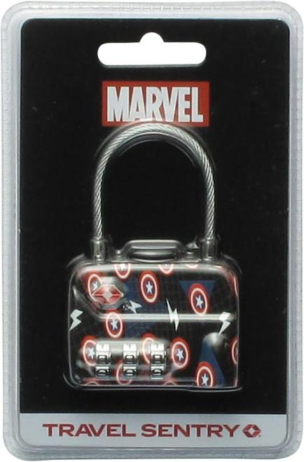 Captain America Logos TSA Travel Luggage Lock