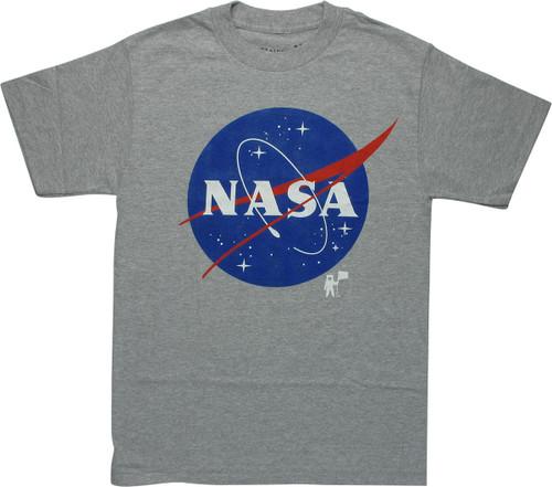 NASA Classic Logo Gray Heather T-Shirt