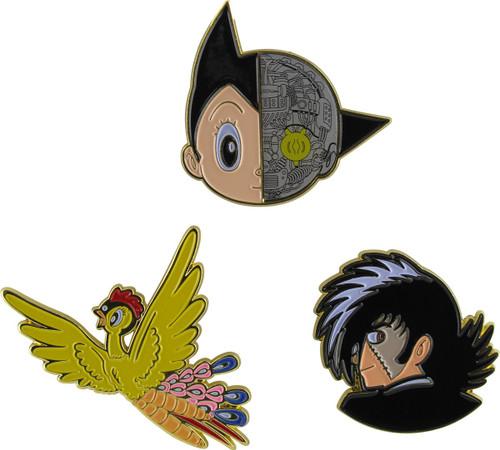 Osamu Tezuka Astro Phoenix Black Jack 3 Pin Set
