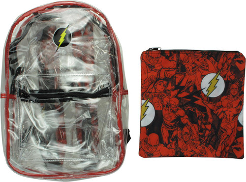 Flash Logo Pouch and Clear Backpack