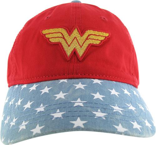 Wonder Woman Logo Stars Buckle Youth Hat