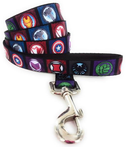 Avengers Superhero Logos Wrap 4 Foot Pet Leash