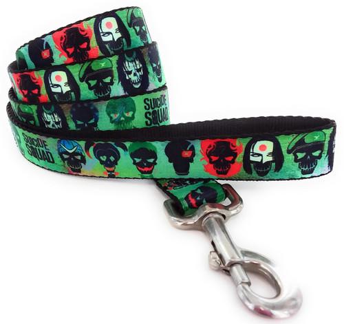 Suicide Squad Cast Skulls Wrap 4 Foot Pet Leash