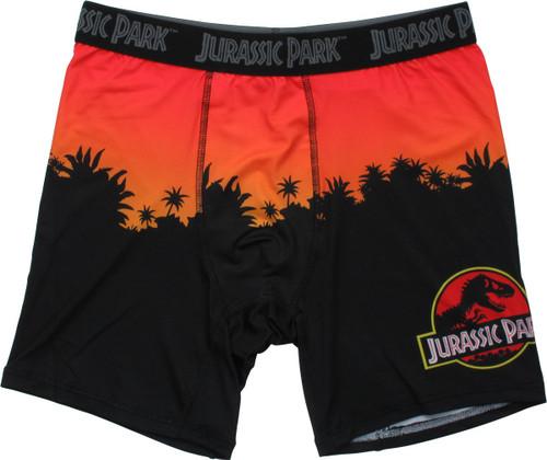Jurassic Park Sunset Logo Boxer Briefs
