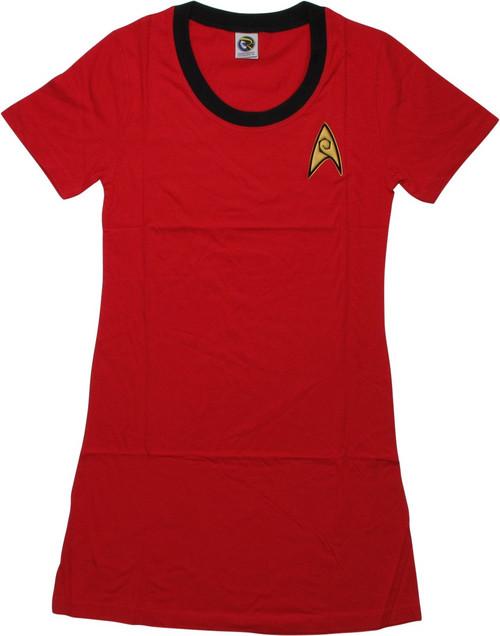 Star Trek TOS Engineering Juniors T-Shirt Dress