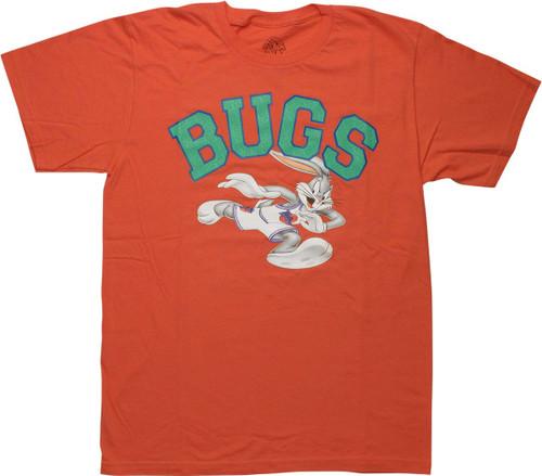 Space Jam Bugs Bunny Baller Orange T-Shirt