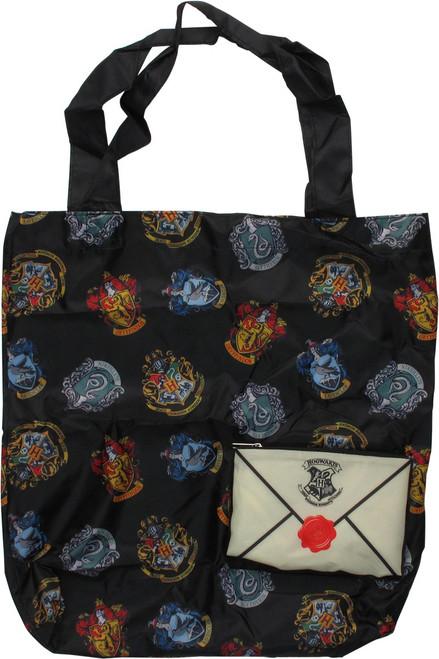 Harry Potter Crests AoP Packable Tote Bag