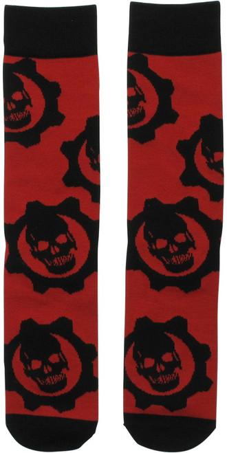 Gears of War Cog Logo Crew Socks