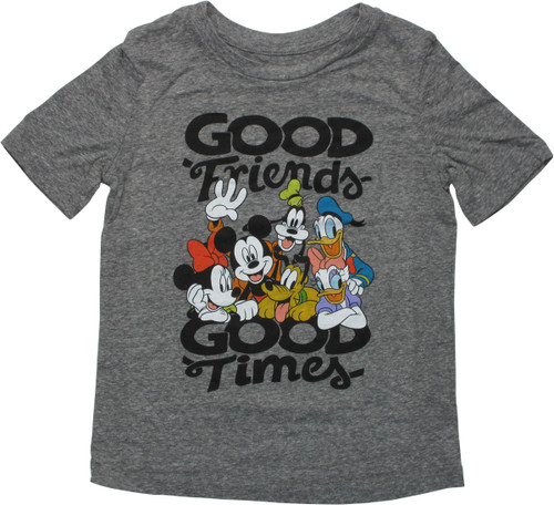 Mickey Mouse Good Friends Good Time Youth T-Shirt