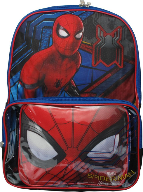 Spiderman Homecoming Mask Lunch Bag Backpack
