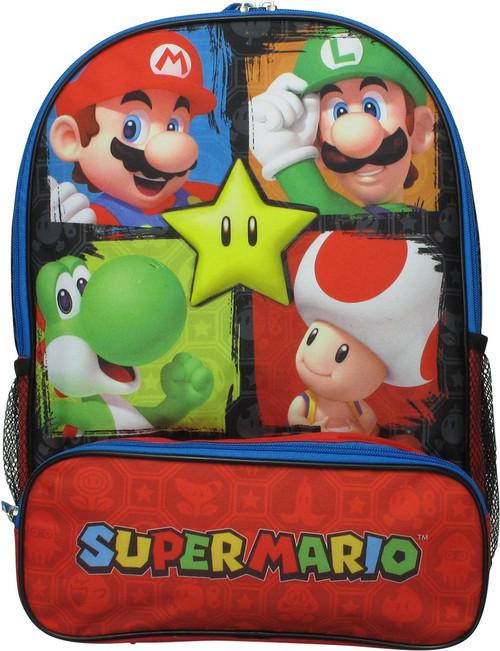 Super Mario Star Hero Squares Backpack