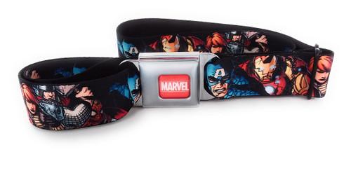 Avengers Superheroes Faces Wrap Seatbelt Belt