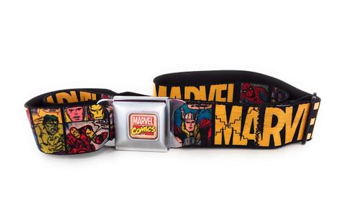 Avengers Comic Panels Wrap Seatbelt Belt