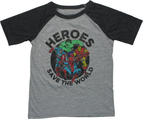 Avengers Save The World Raglan Youth T-Shirt
