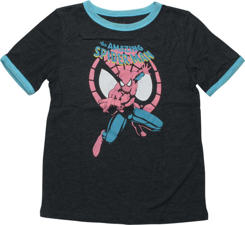 Spiderman Amazing Web Face Youth T-Shirt