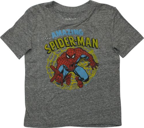 Spiderman Amazing Grey Print Toddler T-Shirt
