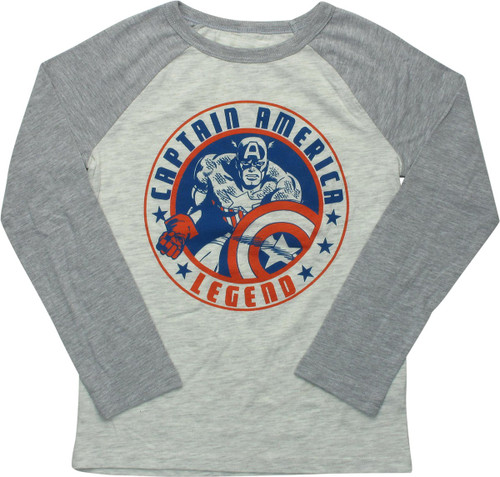 Captain America Legend Star Youth T-Shirt -