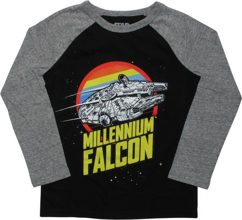 Star Wars Falcon Retro Youth T-Shirt - Long Sleeve