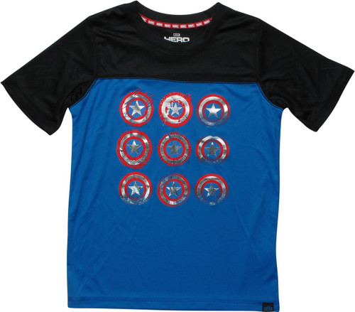 Captain America Shield Ath Rag Youth T-Shirt