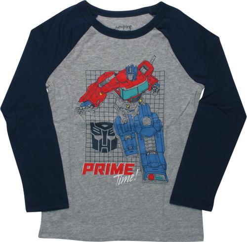 Transformers Prime Time Raglan Youth T-Shirt