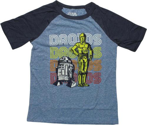 Star Wars Droids Duo Raglan Youth T-Shirt