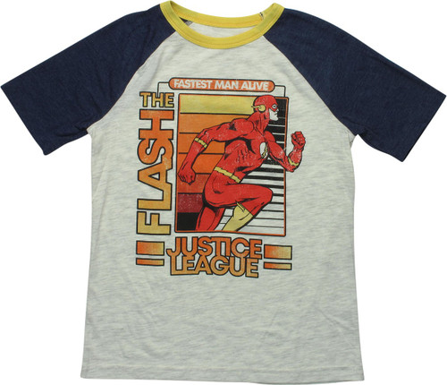 Flash Fastest Man Raglan Youth T-Shirt