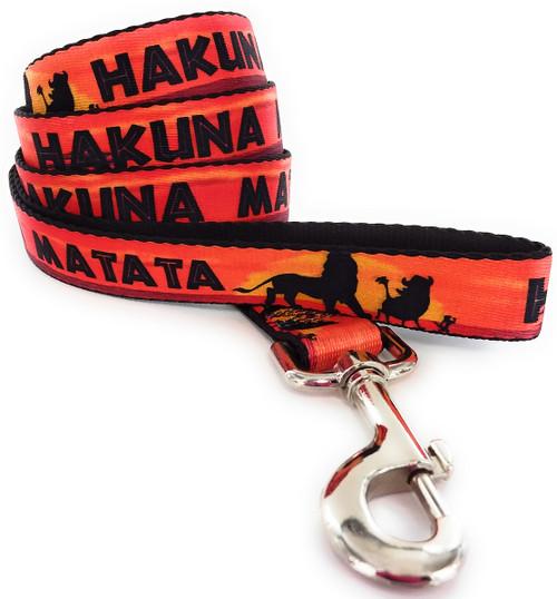 Lion King Hakuna Matata Wrap 4 Foot Pet Leash