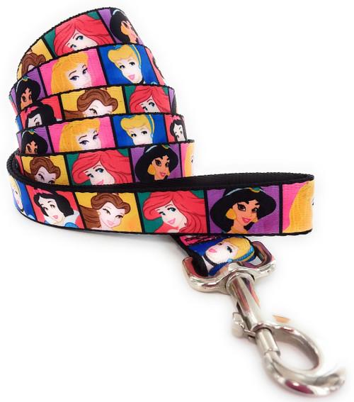 Disney Princess Face Squares Wrap 6 Foot Pet Leash