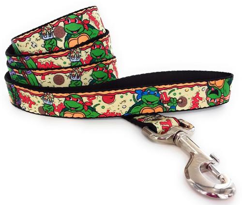 Ninja Turtles Pizza Wrap 4 Foot Pet Leash