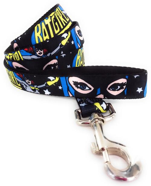 Batgirl Mask Stars Wrap 4 Foot Pet Leash