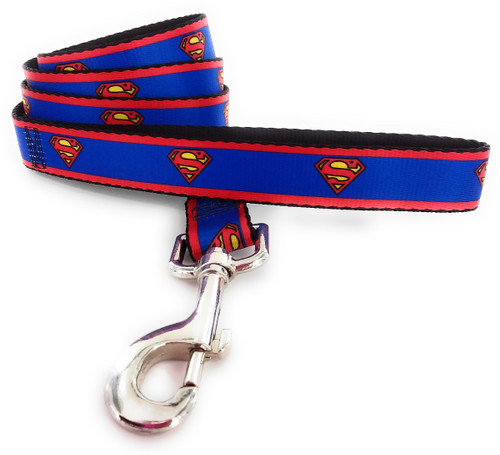 Superman Classic Logo Wrap 4 Foot Pet Leash