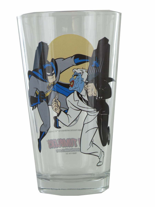Batman Animated Series Two Face Fight Pint Glass