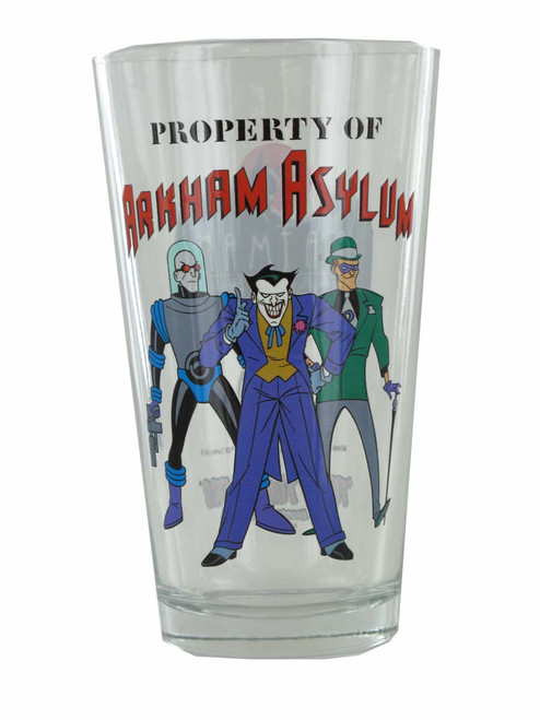 Batman Animated Series Property Arkham Pint Glass