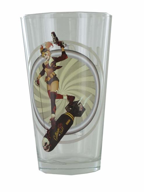 Harley Quinn Bombshell Toon Tumbler Pint Glass