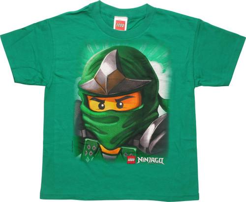 1a3290a9c213 Lego Ninjago Green Warrior Youth T-Shirt