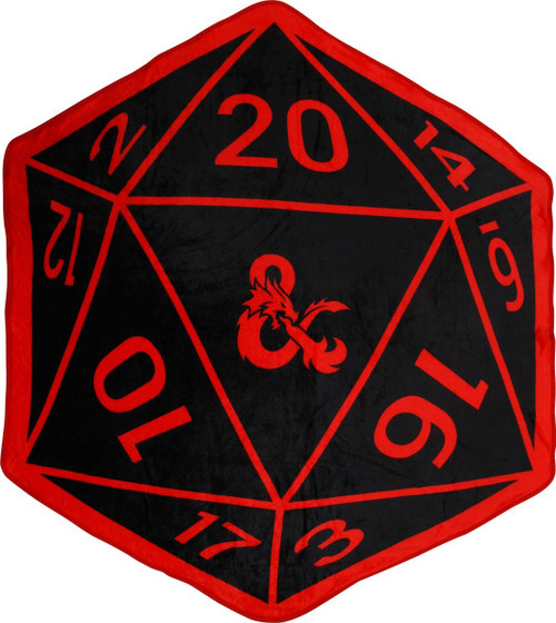 70987d3b Dungeons and Dragons 20 Sided Die Throw Blanket