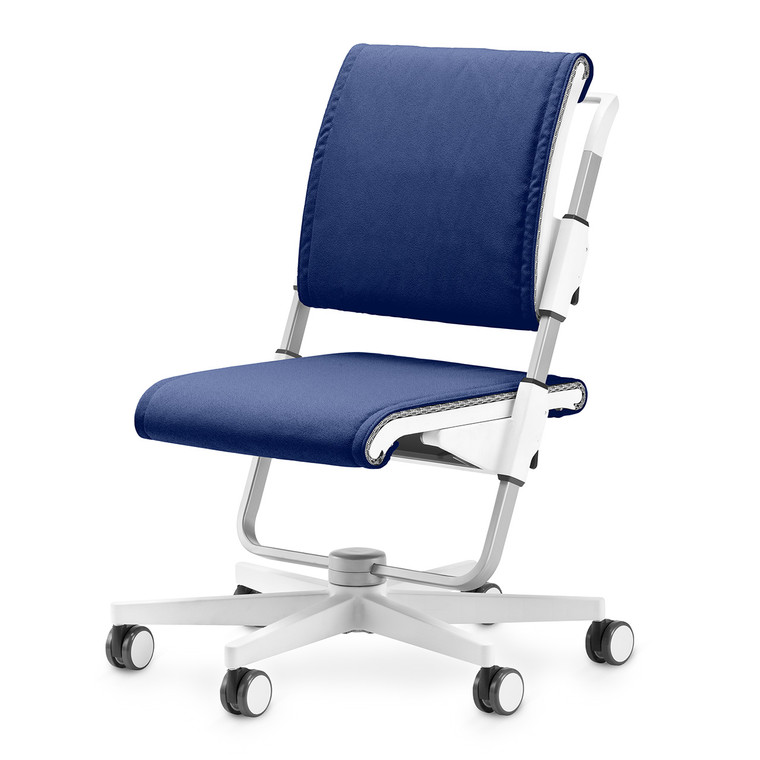 moll Scooter Chair Back and Seat Cushions, Blue
