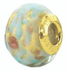 ZABLE Murano Blue Glass Bead Charm BZ-3538 (Retired)