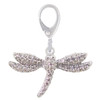 ZABLE Crystal Dragonfly Clip-On Charm LC-414