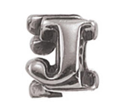 """ZABLE """"J"""" Letter Bead Charm BZ-1810"""