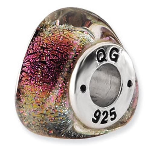 Reflections Dichroic Glass Bead Charm QRS1499
